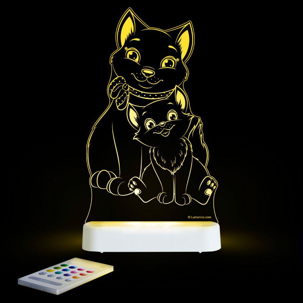 Aloka USB/Battery LED Night Light - Cat