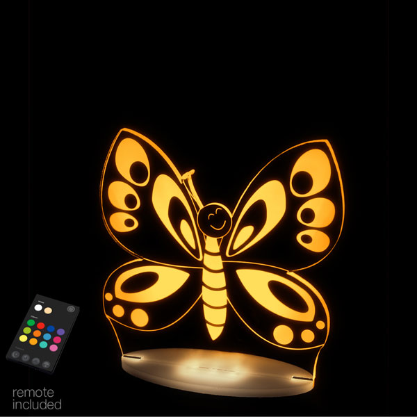 Aloka USB/Battery LED Night Light - Butterfly