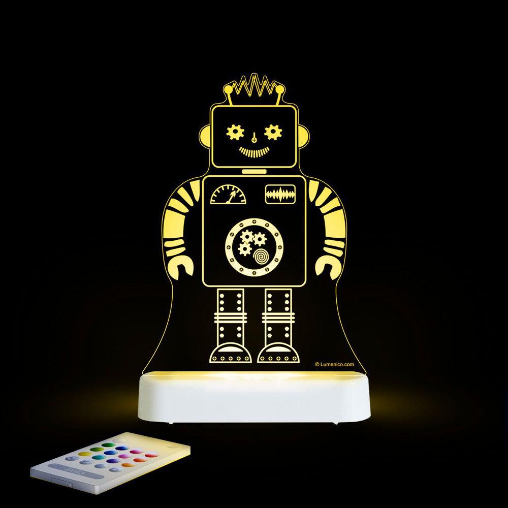 Aloka USB/Battery LED Night Light - Robot