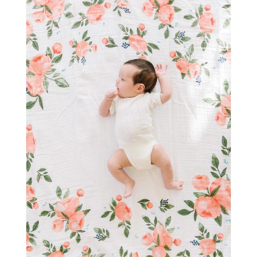 Little Unicorn - Muslin Photo Blanket & Milestone Set