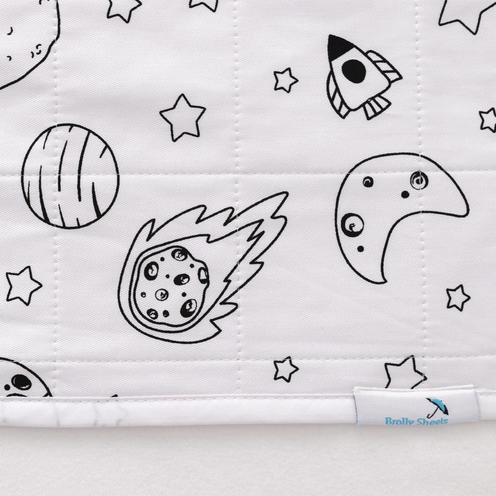 Brolly Sheets Waterproof Bed Pad (No wings) - Print