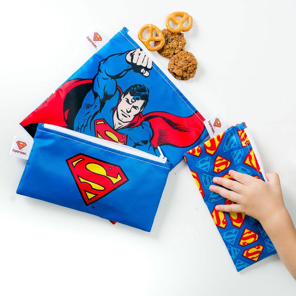 Bumkins Snack Bag Combo 3pk - DC Comics
