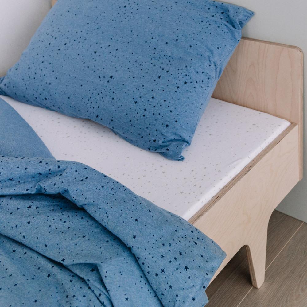 Deluxe Organic Jersey Duvet Cover - Blue Star