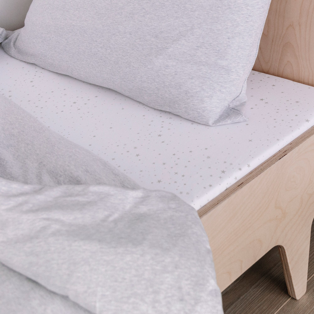 Deluxe Organic Jersey Duvet Cover - Grey Marl