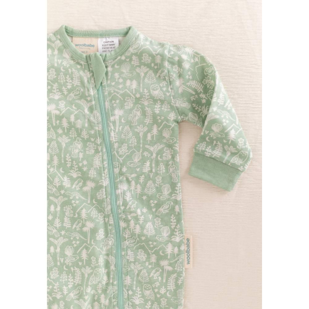 Woolbabe Merino/Organic Cotton PJ Suit - Print
