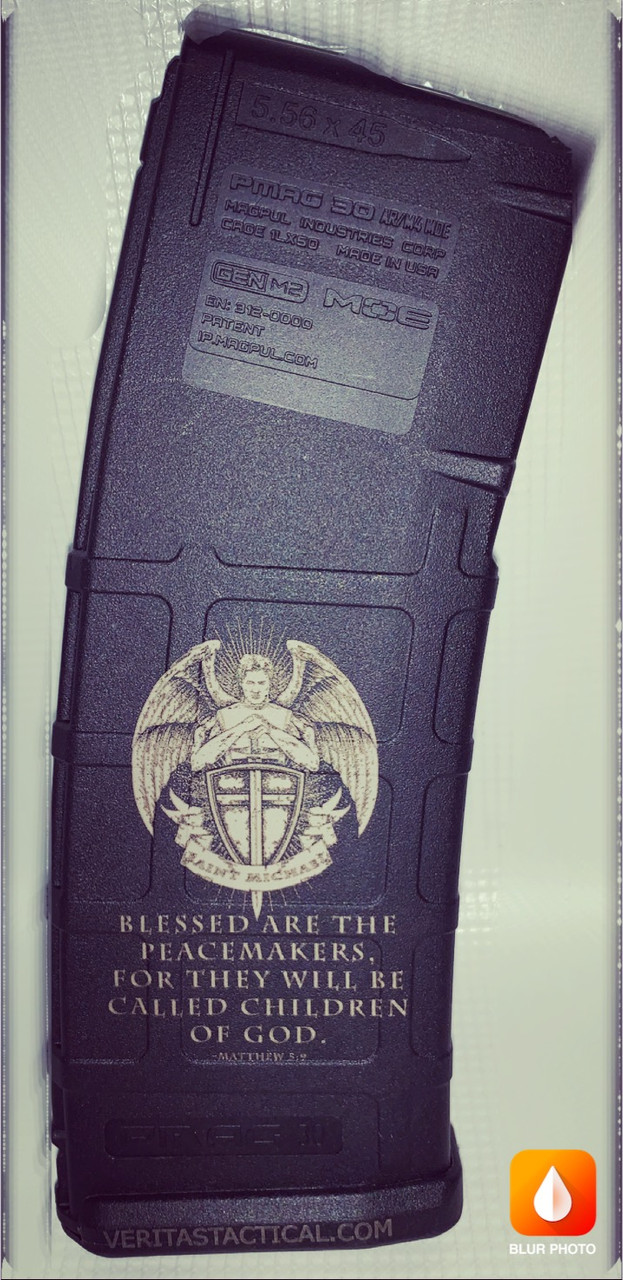 Blessed Are The Peacekeepers Laser Engraved Magazine