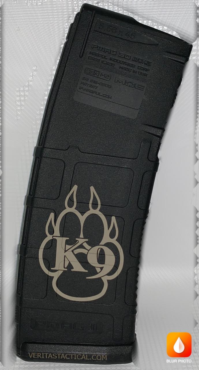 K9 Paw Laser Engraved Magazine