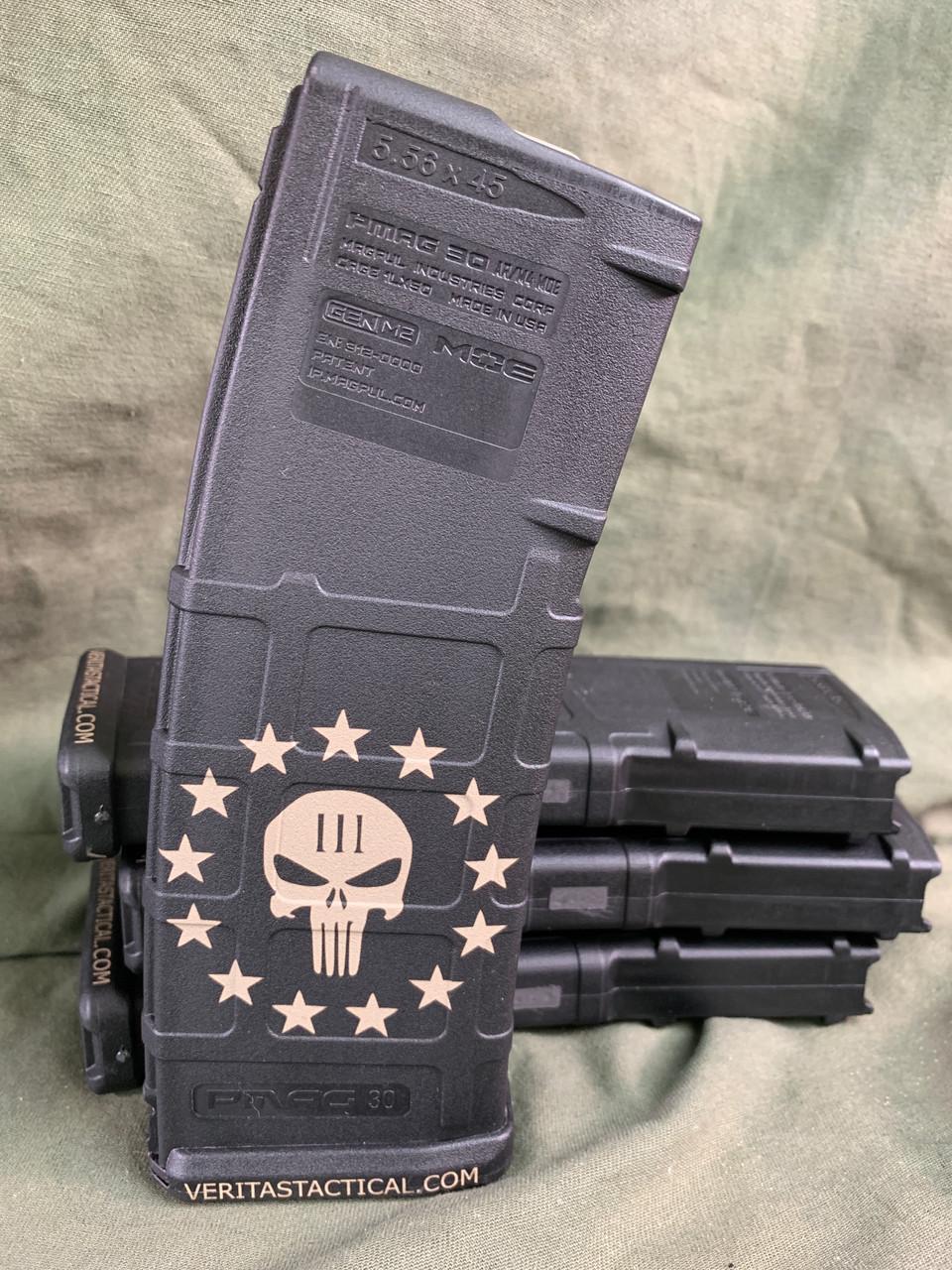3 Percent Punisher Laser Engraved Magazine