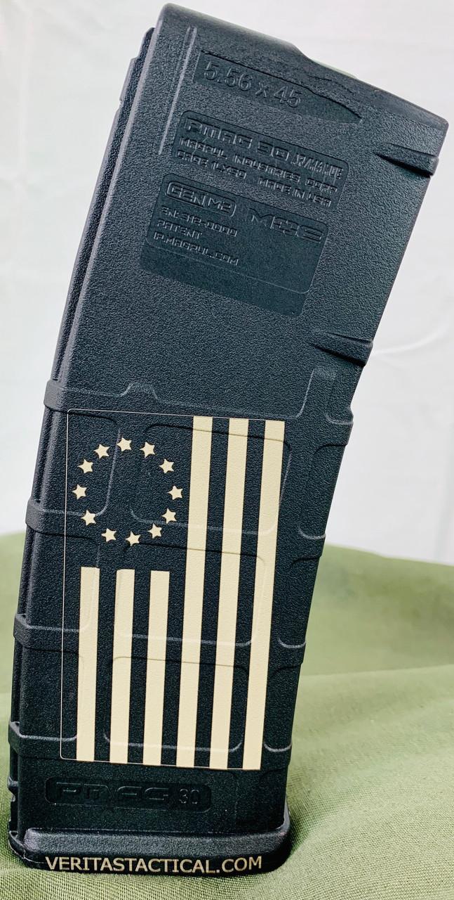 """Betsy Ross"" US Flag Laser Engraved Magazine"