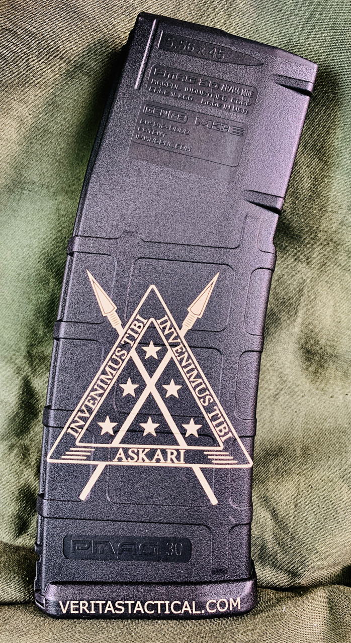 ASKARI Logo Laser Engraved Magazine