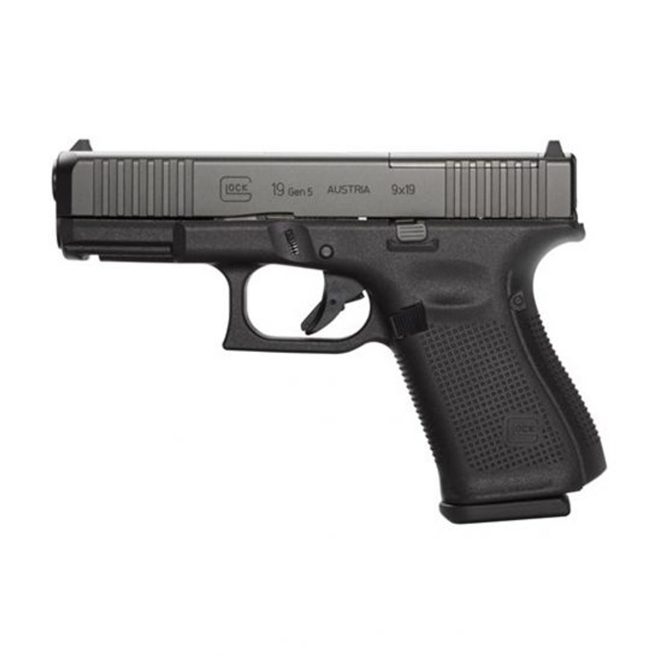 Glock G19 GEN5 MOS Front Serrations / Black
