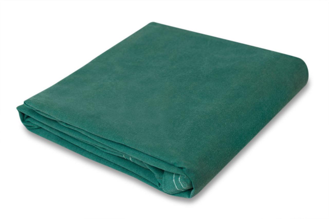 10 oz. Green Canvas Tarps, water - mildew resist.