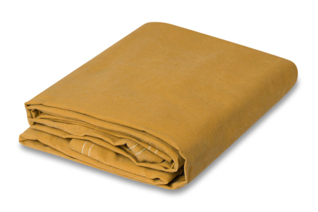 10 oz. Gold Canvas Tarps, water - mildew resist.