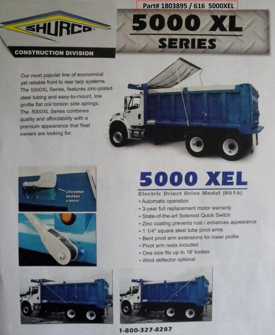 5000XEL™ Dump Truck Tarp System, Complete System