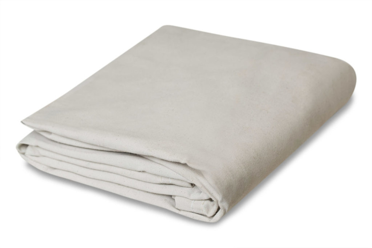 10 oz. White Canvas Tarps, water - mildew resist.