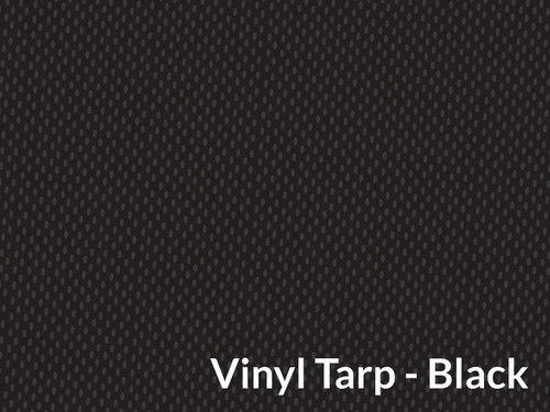 18 oz. Black Vinyl Tarp w/Side Flaps - 9' X 18' (20-4324/1801608)