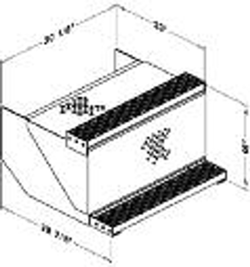 "Battery Box, Driver Side, W/Step,18""X 28-7/8"" X 20-1/8"", Peterbi"