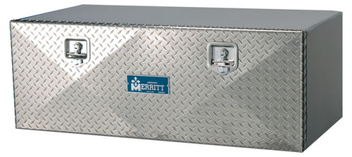 "Merritt Tool Box, Single Diamond Plate Door, 18""H X 18""W X 18""L (40-202)"