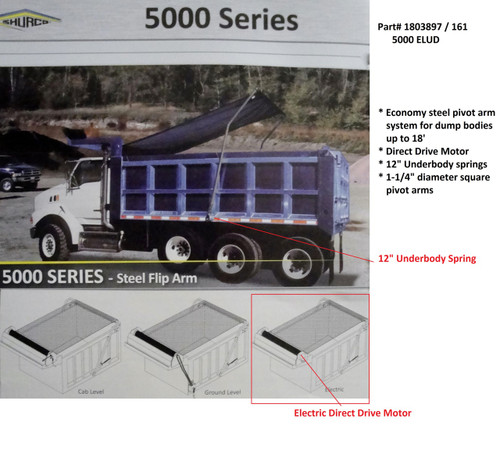 5000ELUD™ Dump Truck Tarp System, Complete System (20-161/1803897)