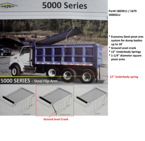 5000GLU™ Complete Ground Level Underbody Spring Tarping System (20-1679/1803911)