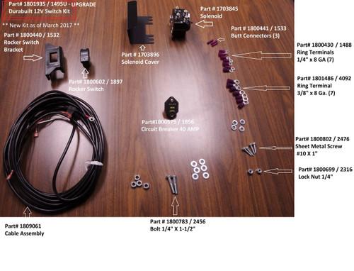 Durabuilt 12 Volt Switch Kit, Upgrade (20-1495-U/1801935