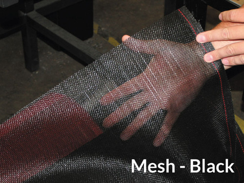 "7'5"" X 16' F/S Black Mesh Tarp (20-8/1800003)"