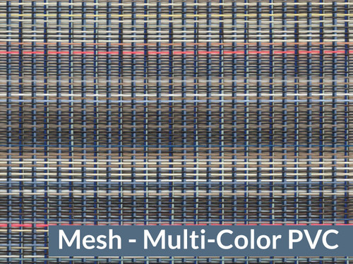 "93"" X 28' Multi Color Mesh Tarp, W/Reinforcements, No Flaps, (20-2989/1801032)"
