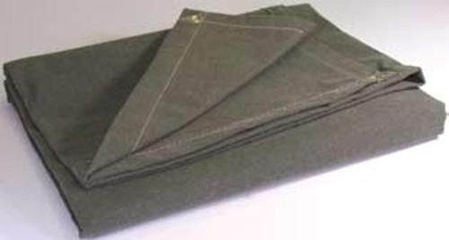 40' X 40' c/s 14.90 oz.. Flame Resistant Canvas Tarp W/Grommets 24'' Apart