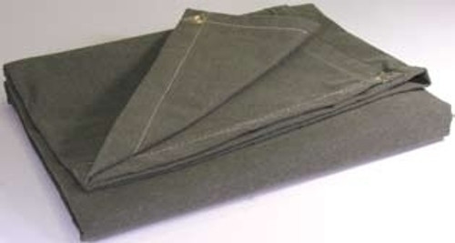 40' X 40' c/s 9.93 oz.. Water Resistant Canvas Tarp W/Grommets 24'' Apart