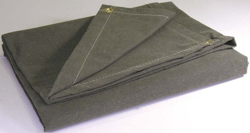 "12' X 24' c/s 14.90 oz. Water Resistant Canvas Tarp, grommets 24"" all Hems (10-CTW-15-01-1224)"