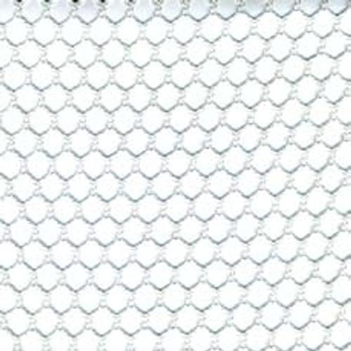 12' X 48' c/s # 8600 White 1/2'' Mesh Tarp W/ Web Hem & Grommets 24'' Apart No Pocket