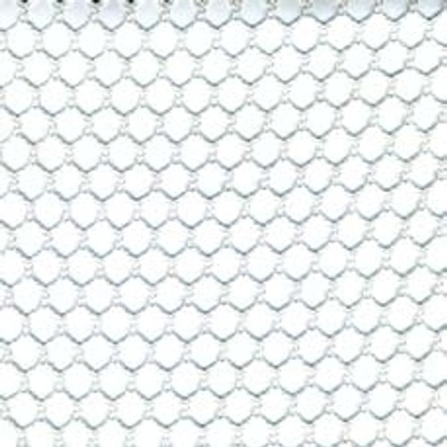 12' X 51' c/s # 8600 White 1/2'' Mesh Tarp W/ Web Hems & Grommets 24'' Apart No Pocket