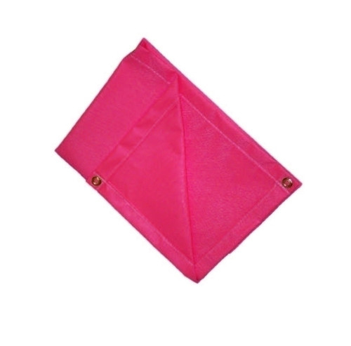 10' X 10' 17 oz.. Salmon Neoprene Coated Fiberglass Blanket w/Grommets 24'' Apart