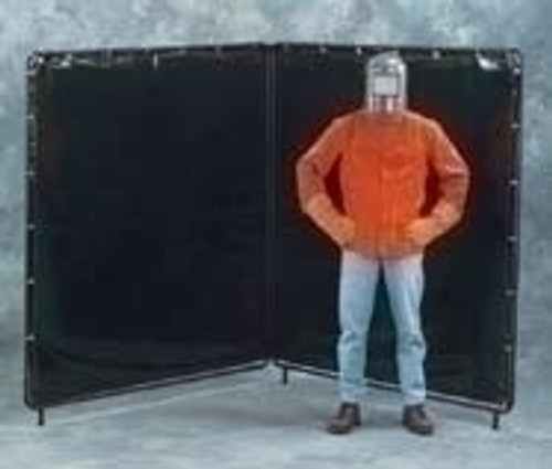 32' X 8' Orange Weld-View Replacement Curtain For 4 Panel Screen