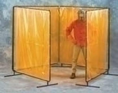 8X8X8X8 X 8H Orng Weldview 4 Panel Welding Screen Complete Unit 8 X 32 Curtain