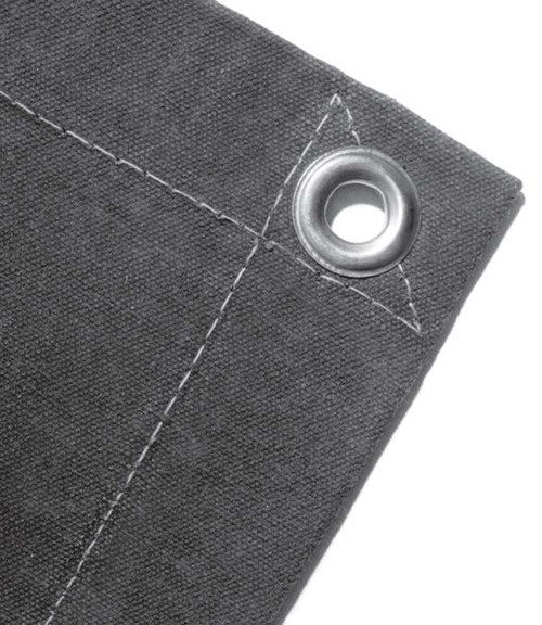 10' X 12' Cut Size 14.90 oz. Noble Canvas Tarp, Grommets 3' Apart