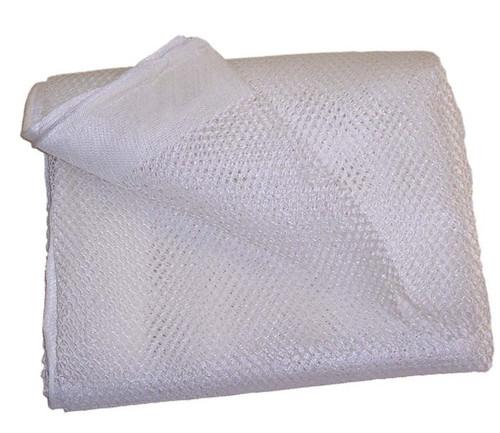 12 X 47 White Polyester Mesh Tarp, No Pocket (10-T-8600-1247NP)