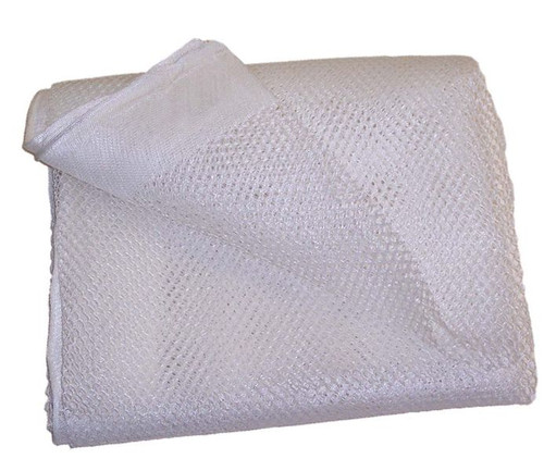 12 X 47 White Polyester Mesh Tarp, No Pocket (10-T-8600-1247NP)