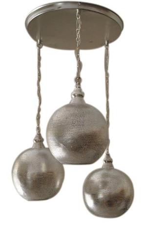 silver Moroccan Pendant Lamps