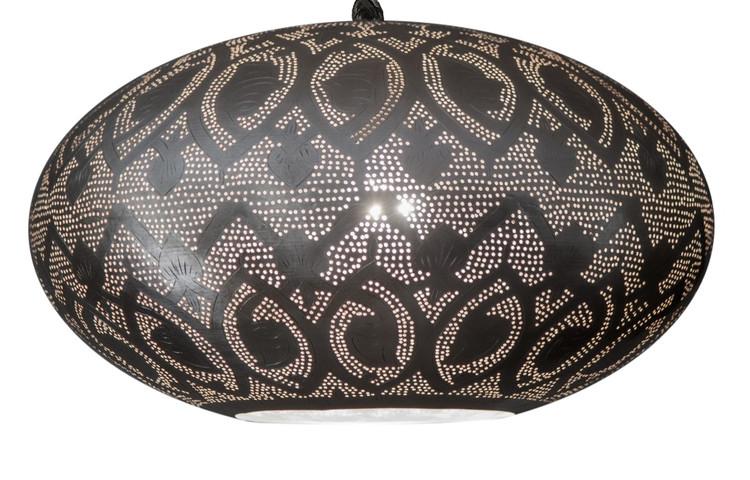 Moroccan Hanging Brass Lamp
