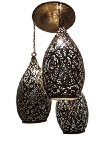 Moroccan Brass Hanging Lanterns
