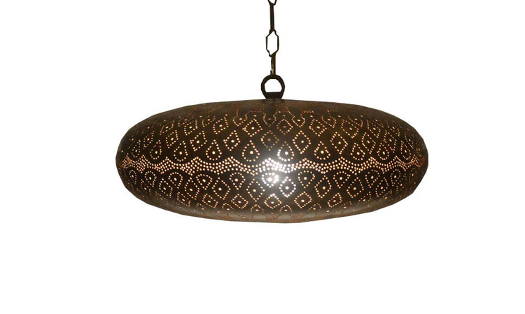 moroccan Bronze Brass pierced shades lamp