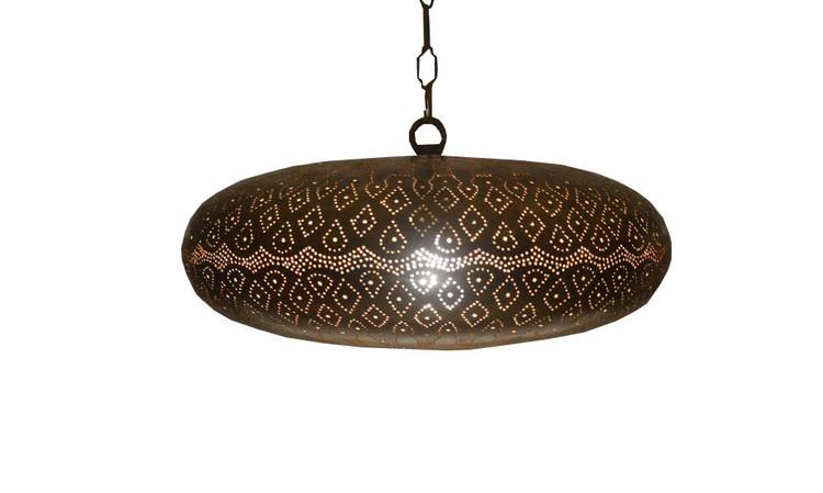 moroccan Bronze Brass pierced shades lamp