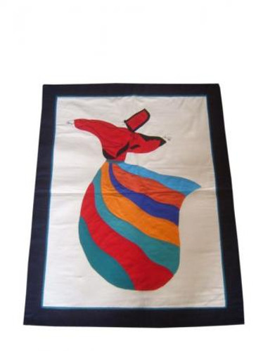 Egyptian Sufi Whirling Dervish Wall Hanging