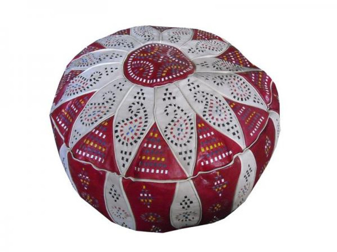 Red Moroccan Pouf
