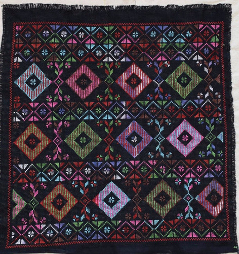 12X Hand Stitched embroidered Egyptian-Palestinian Bedouin Fabric Textile Pieces