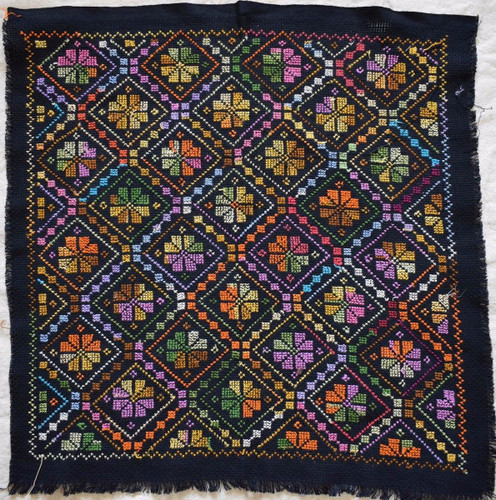 12X Hand Stitched embroidered Egyptian Palestinian Bedouin Fabric Textile Pieces