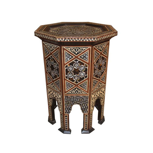 Middle Eastern Mother of Pearl Inlaid Side, Coffee Table