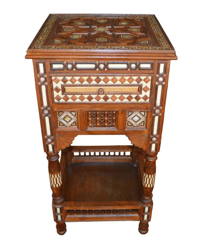 Large Arabian Mother of Pearl Inlaid Coffee Table