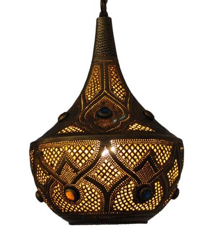 Moroccan style Jeweled Lantern Lamp
